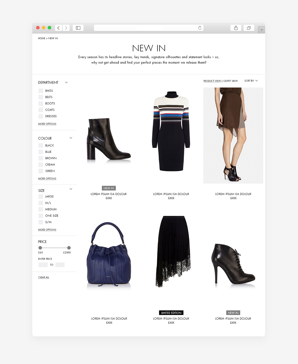 KAREN-MILLEN eCommerce category page
