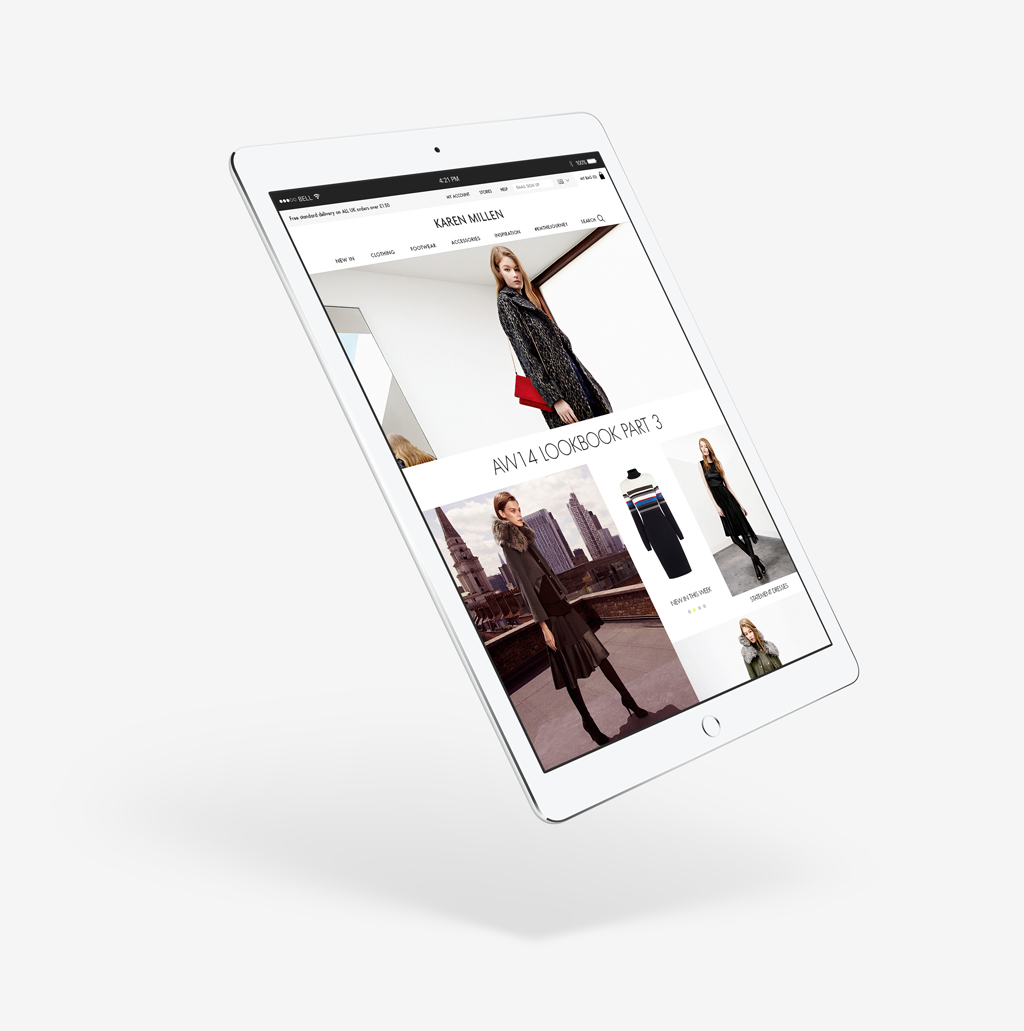 KAREN-MILLEN homepage tablet layout
