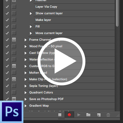 photoshop actions tutorial video