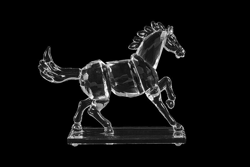 Product-photography glass horse