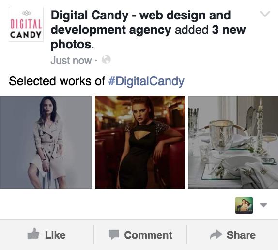 Multiple square images upload online marketing Facebook